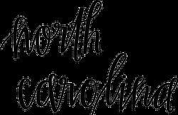 North Carolina Script Sticker