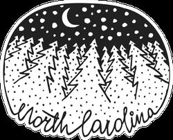 North Carolina Starry Night Sticker