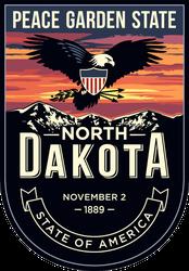 North Dakota Banner Sticker