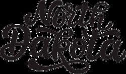 North Dakota Calligraphy Sticker