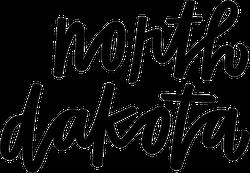 North Dakota Hand Script Sticker