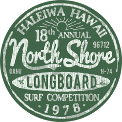 North Shore Surfing Vintage Sticker