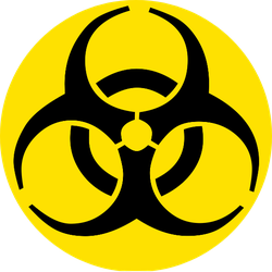 Nuclear Symbol Black And Yellow Colors Sticker
