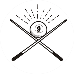 Number 9 Billiard Ball Doodle Sticker