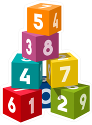 Number Blocks Sticker
