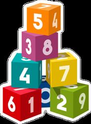 Number Blocks Sticker