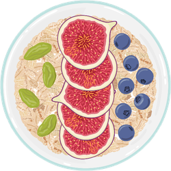 Oat Flakes With Fruit Bowl Sticker