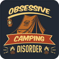 Obsessive Camping Disorder Sticker