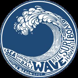 Ocean Activities Wave Sticker