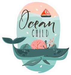 Ocean Child Sticker