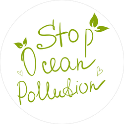 Stop Ocean Pollution White Sticker