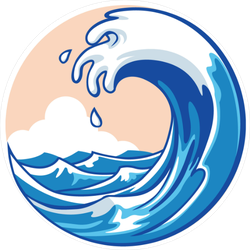 Ocean Wave and Sky Sticker
