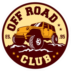 Off Road Club Circle Sticker