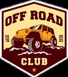 Off Road Club Hexagon Sticker