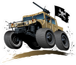 Off Road Pirate Jeep Tank Sticker