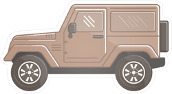 Off Road Sand Colored Jeep Sticker