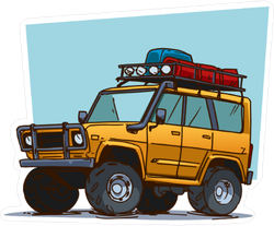 Off Road Travel Adventure Vehicle Sticker