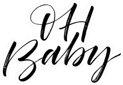 Oh Baby Calligraphy Sticker