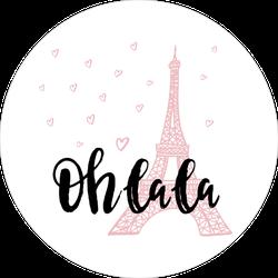 Oh La La Eifel Tower Sticker