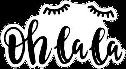 Oh La La Eyelash Sticker
