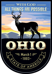 Ohio Banner Sticker