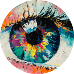 Oil Painting Conceptual Abstract Eye Sticker