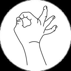 Okay Hand Sign Meme Sticker