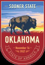 Oklahoma Banner Sticker