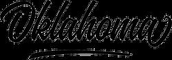 Oklahoma Script Sticker