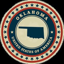 Oklahoma Seal Sticker