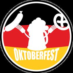 Oktoberfest Beer, Sausage And Pretzel Sticker