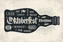 Oktoberfest Bottle Of Beer Sticker