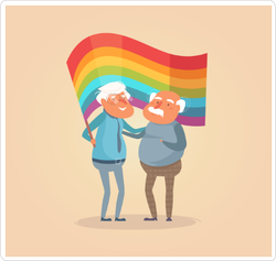 Old Gay Couple Sticker