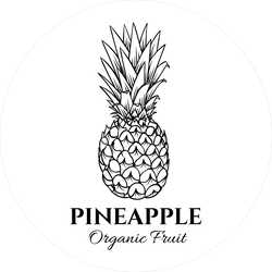 Old Ink Style Pineapple Illustration Sticker