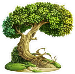 Old Ivy Covered Tree Sticker
