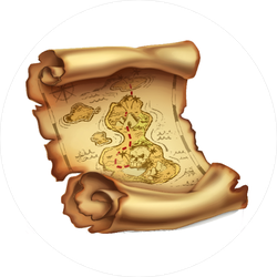 Old Pirate Treasure Map Sticker