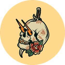 Old School Skull Tattoo Sticker