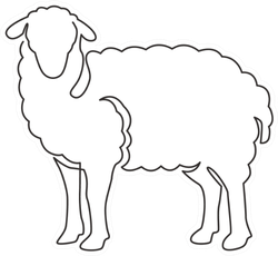 One Continuous Line Drawing Of Cute Sheep Sticker