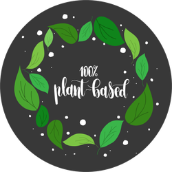 One Hundred Percent Plant Based With Leaves Sticker