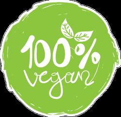 One Hundred Percent Vegan Simple Green Sticker