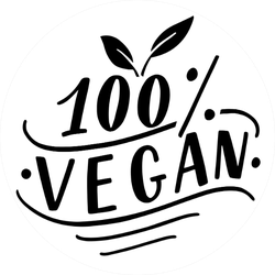 One Hundred Percent Vegan Simple Lettering Sticker