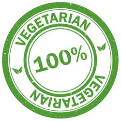 One Hundred Percent Vegetarian Label Sticker