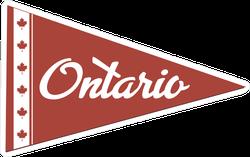 Ontario Canada Flag Pennant Sticker