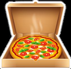 Open Pizza Box Sticker