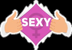 Opening Shirt Sexy Illustration Sticker