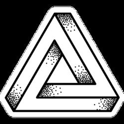 Optical Illusion Penrose Triangle Tattoo Sticker