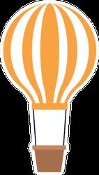 Orange Hot Air Balloon Icon Sticker