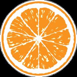 Orange Illustration Sticker