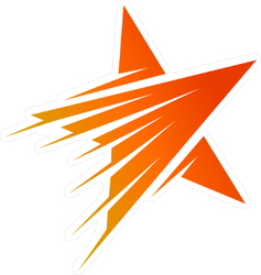 Orange Shooting Star Logo