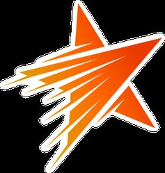 Orange Shooting Star Logo